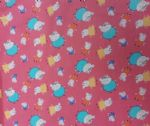 PEPPA PIG FAMILY - DADDY MUMMY GEORGE PIG - Fabric 100% Cotton - Price Per Metre